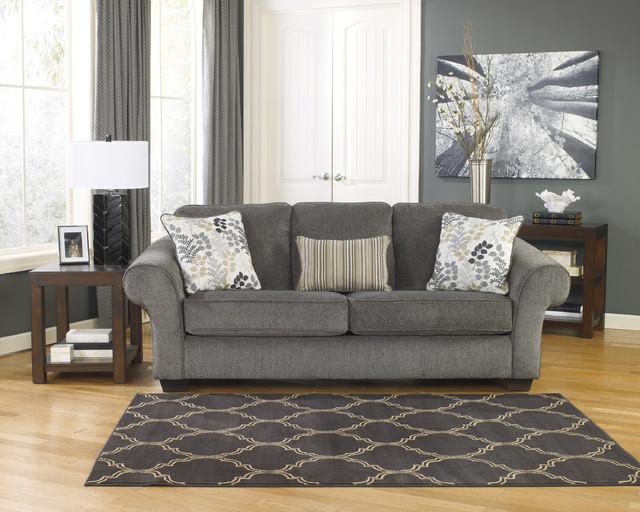 Signature Design By Ashley Makonnen Charcoal Fabric Sofa