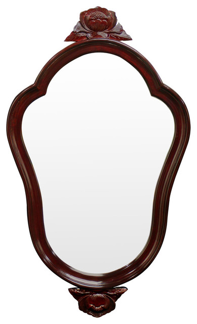 Rosewood french style mirror asian mirrors by china for Asian style mirror