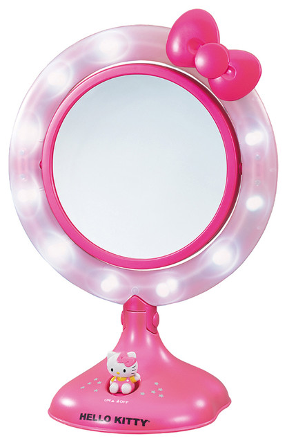 Hello Kitty Lighted Makeup Mirror Contemporary Kids Bathroom Accessories
