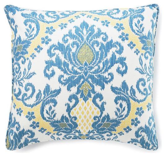 Ikat Blue Pillow - Traditional - Decorative Cushions - by Jiti Designs
