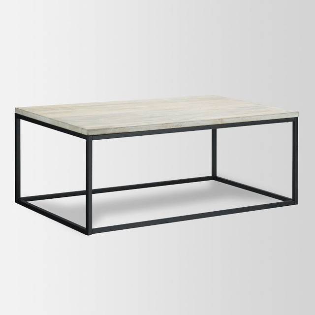 box frame coffee table mango wood industrial coffee With west elm mango wood coffee table
