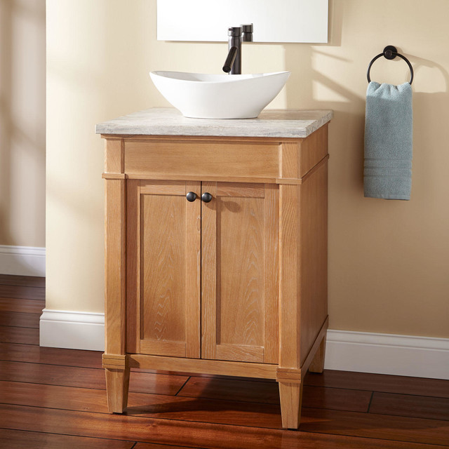 24 Marilla Vessel Sink Vanity Rustic Bathroom Vanities And Sink Consoles By Signature