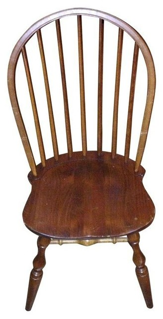 Nichols Stone Windsor Chairs Set Of 4 Dining Chairs By Chairish