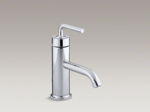 KOHLER Purist(R) single-hole bathroom sink faucet with straight lever ...