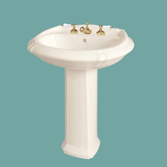 Large Pedestal Sink : Pedestal Sinks Bone China Large Sheffield Plus Ped. Sink 8 13761 ...