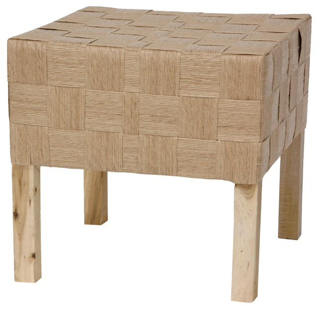 Woven Fiber Stool Natural Traditional Footstools And
