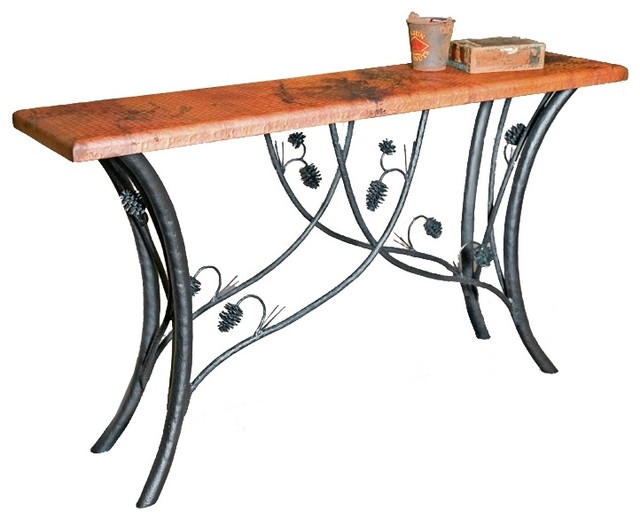 Piney woods console table base only table tops and bases for Wrought iron sofa table base