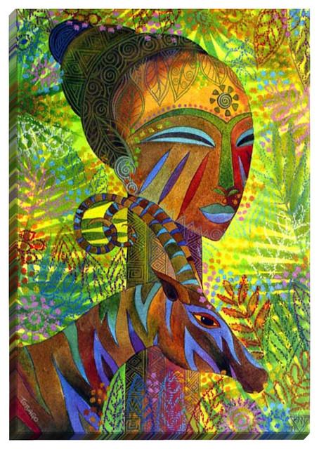 African Queens Illuminated Wall Art Contemporary