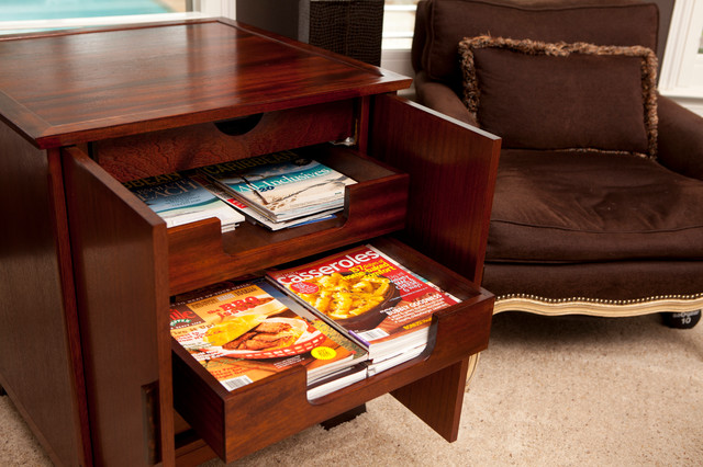 Magazine Storage End Table Contemporary Side Tables