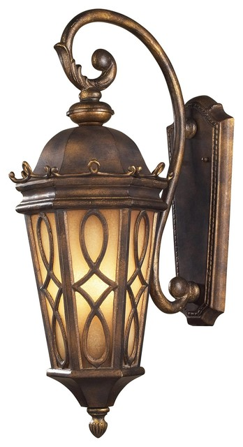 Exterior Wall Sconces Traditional : Elk Lighting Burlington Junction Traditional Outdoor Wall Sconce X-3/20024 - Traditional ...