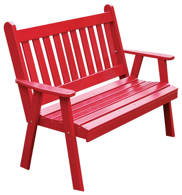 6 39 Pine Bench Traditional English Beach Style Outdoor Benches By Furniture Barn Usa