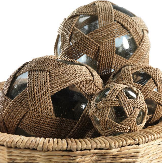 Seaside Lampakanai Wrapped Glass Fill Ball Dia 8