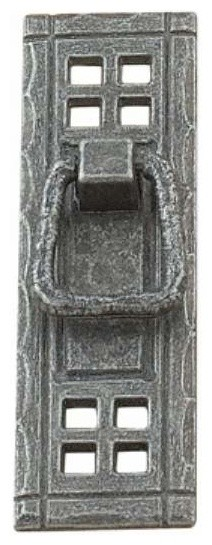 "Richelieu Classic Metal Drop Pull Rustic Backplate 4-1/4"" Iron - Contemporary - Cabinet And ..."
