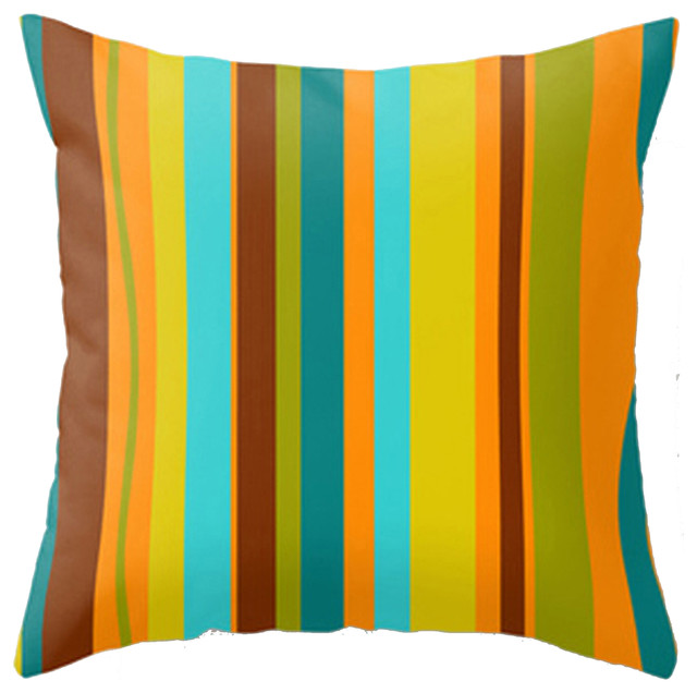 Modern Mid Century Inspired Accent Pillow - Beach Style - Decorative Pillows - by Crash Pad Designs