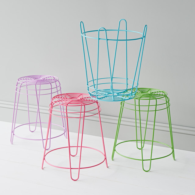 Coloured Wire Stools Eclectic Kids Stools Amp Step