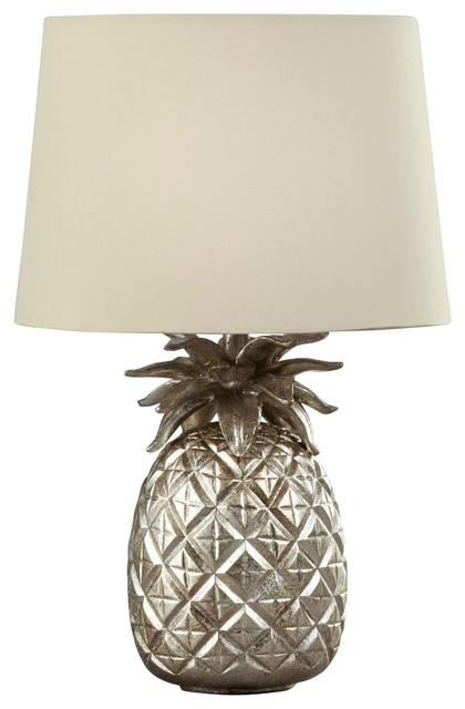 pineapple champagne table lamp with sable shade. Black Bedroom Furniture Sets. Home Design Ideas