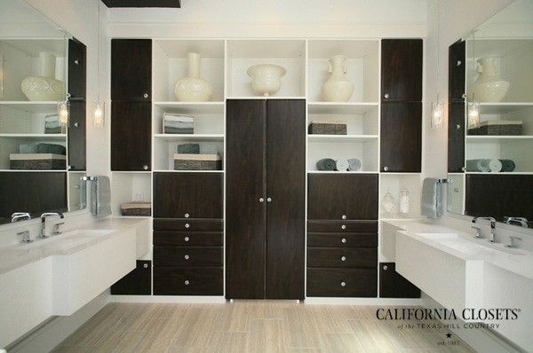 Master bath suite contemporary closet austin by for Closet bathroom suites