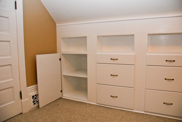 Quilt room built in cabinets - Traditional - Storage And Organization - vancouver - by Martin ...