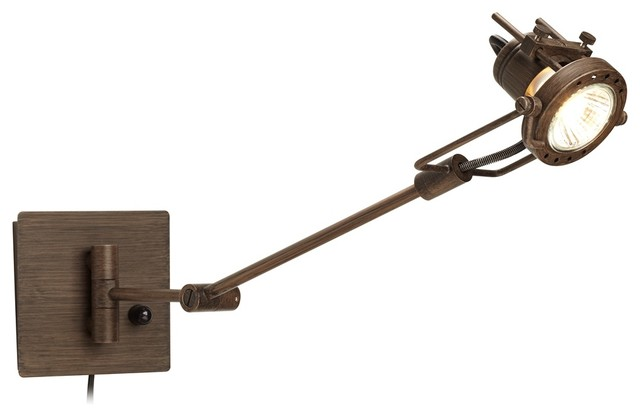 Spotlight Plug-in Bronze Swing Arm Wall Lamp