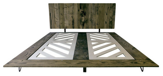 Modern Metal Bed : All Products / Bedroom / Beds & Headboards / Metal Bed Frames