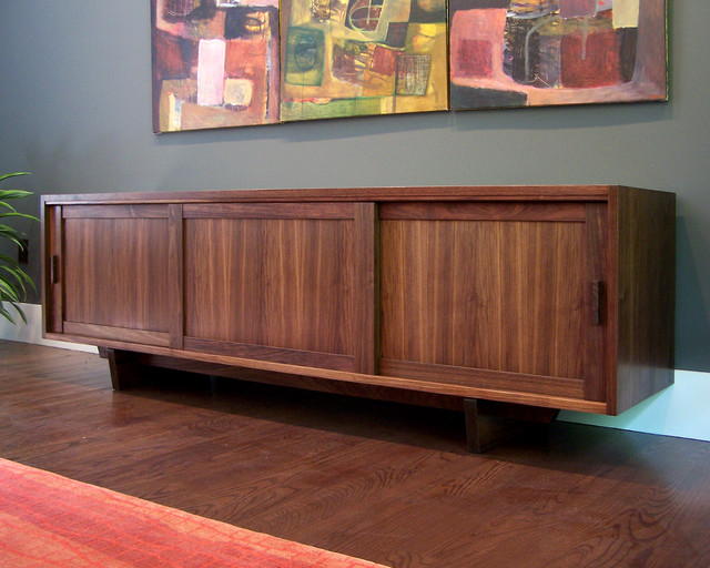 Mid Century Console Server Modern Buffets And