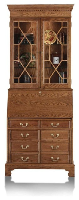 Traditions computer secretary desk with hutch contemporary desks writing bureaus by - Modern secretary desk with hutch ...