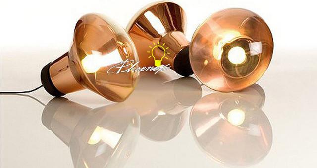 Modern Baking Copper Glass Pendant Lighting Contemporary
