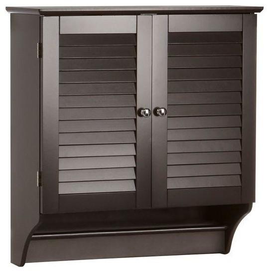 RiverRidge Home Cabinets Ellsworth 24 in. W Wall Cabinet in Espresso brown contemporary-medicine ...