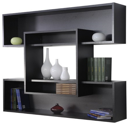 etag res suspendues rayan modern display wall shelves other metro by. Black Bedroom Furniture Sets. Home Design Ideas