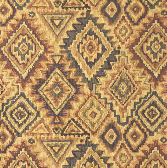 E101 Southwestern Theme Fabric Traditional Upholstery