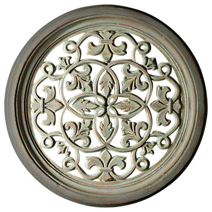 large round fleur de lis grille traditional home decor