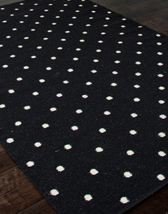 Black White Polka Dot Rug Modern Rugs Other By
