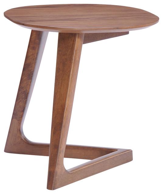 Modrest Jett Modern Walnut End Table Modern Side
