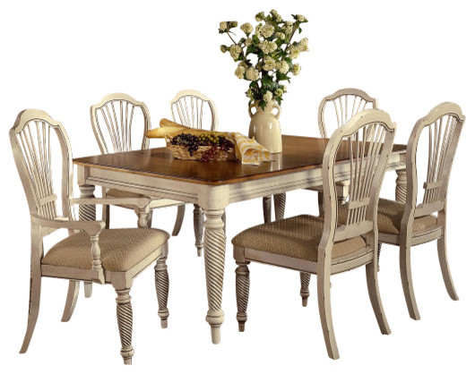 rectangle dining room set in antique white traditional dining sets
