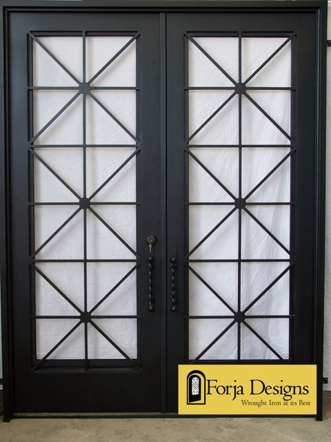 Contemporary Steel door - Modern - Windows And Doors - other metro - by Forja Designs