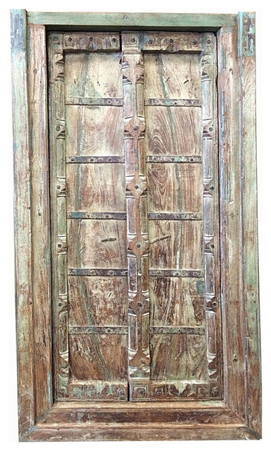 Consigned Haveli Terrace Doors Old World Architecture Indian Door With Frame Traditional
