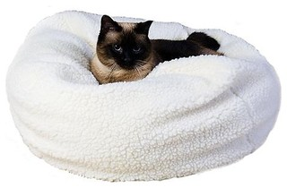 Sherpa Puff Ball Pet Bed 18 Quot Dia Dog Bed Traditional