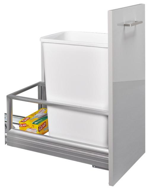 rev a shelf 50 quart pullout waste container white. Black Bedroom Furniture Sets. Home Design Ideas