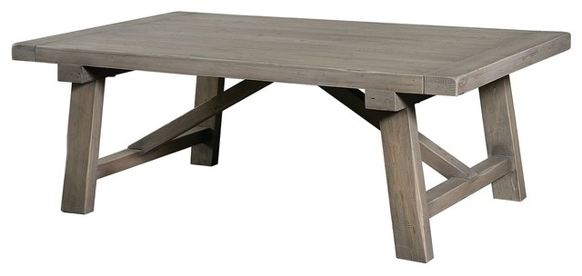 Farmhouse 50 coffee table contemporary coffee tables for Modern farmhouse coffee table