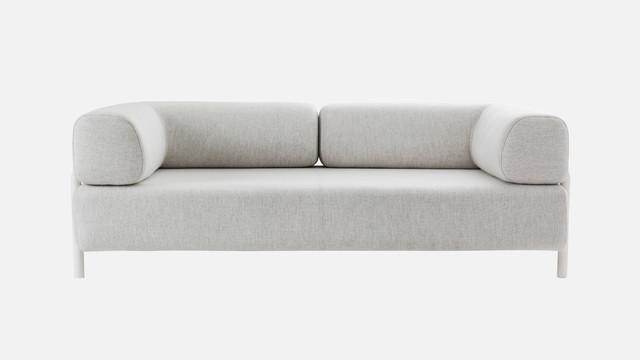 two seater corner armrest white palo 2 sitzer l. Black Bedroom Furniture Sets. Home Design Ideas