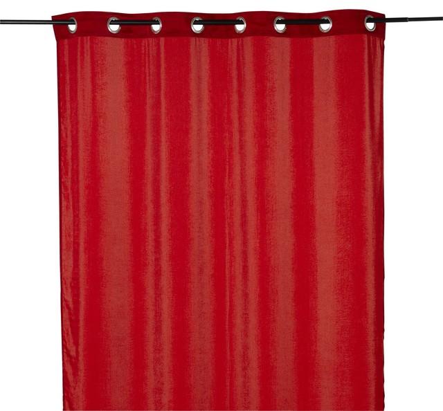 elora rideau illets rouge effet soie 140x250cm contemporain rideaux par alin a mobilier. Black Bedroom Furniture Sets. Home Design Ideas