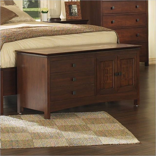 somerton enchantment bedroom bench in rich cappuccino