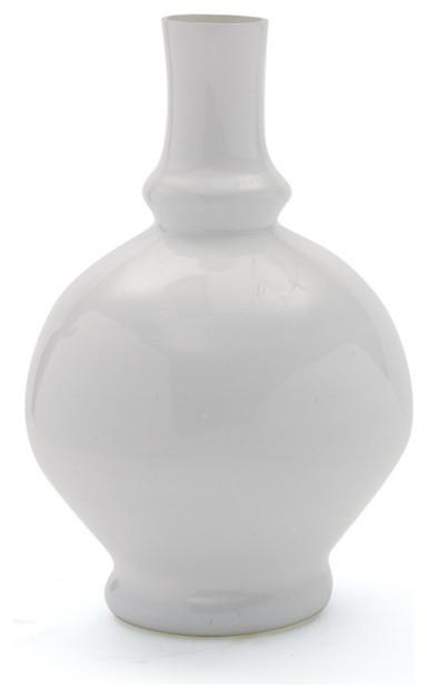 Glass Balloon Vase White Modern Vases by Imtinanz LLC
