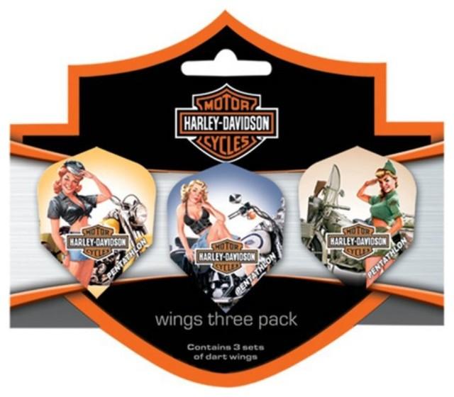Harley-Davidson Wings Triple American Beauties Flights - Set of 3 ...