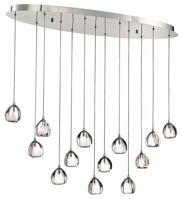Eurofase Lighting  Light Linear Chandelier Contemporary Chandeliers By Buildcom