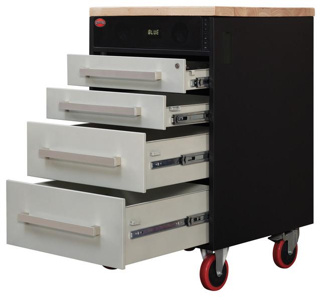 Fantasy Garage Rock-N-Rolling Cart With Wireless Speakers - Industrial - Garage And Tool Storage ...