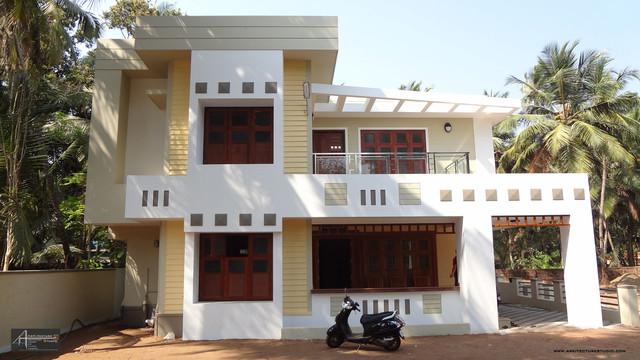 Arkitecture studio exterior and interior designers calicut for New model veedu photos