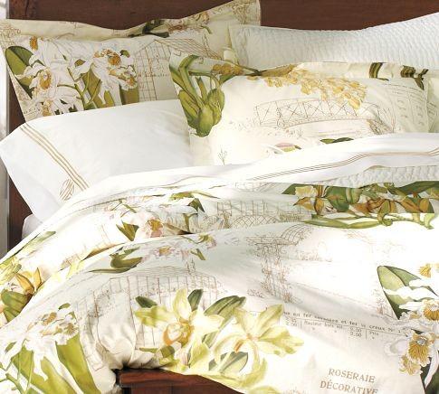 Orchid Duvet Cover Sham Modern Bedding By Pottery Barn