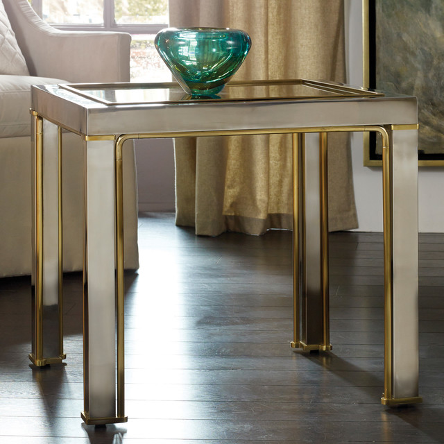 Modern History Home Transitional Metal Side Table Modern Dining Tables By Layla Grayce