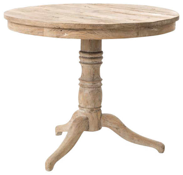 Four Hands Round Pedestal Table Beach Style Side Tables And End Tables By Seldens Furniture